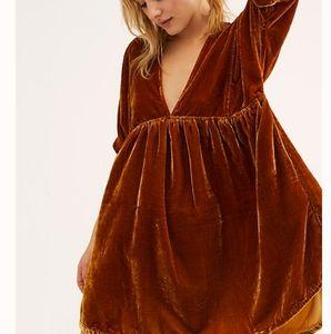 Free People NWT Medium Ivy Velvet Tunic/Mini-Dress